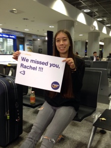 I was so happy to see my cousin & this sign upon arrival (good marketing, Lufthansa)